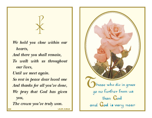 Products JJ Lalor Customized Funeral Memoriam Cards Bookmarks Adorable In Memoriam Of A Loved One