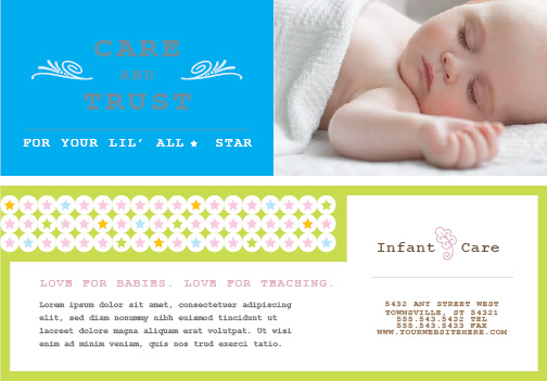 Infant Care and Babysitting Flyer
