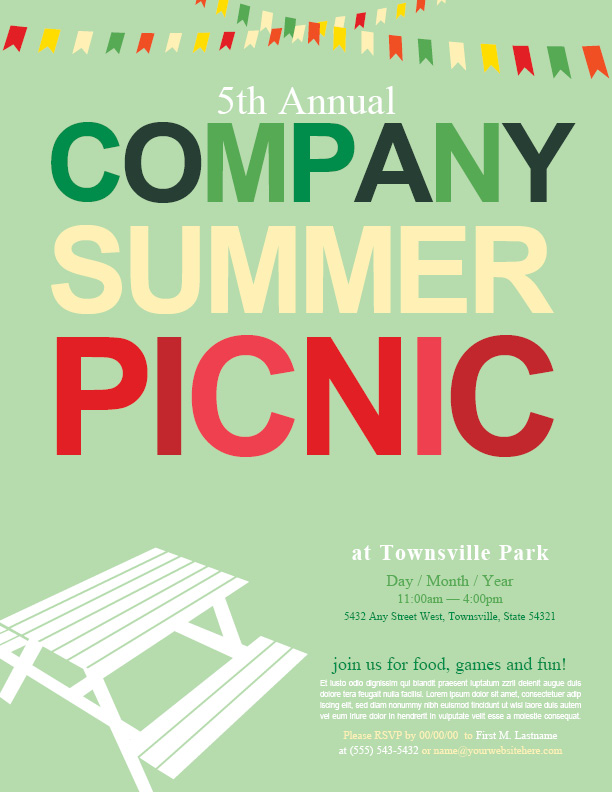 Company Picnic Flyer Images - Reverse Search
