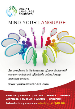 Language Learning Flyer