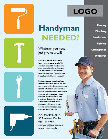 Handyman Flyer Template Handyman Flyer Indesign Flyer Template