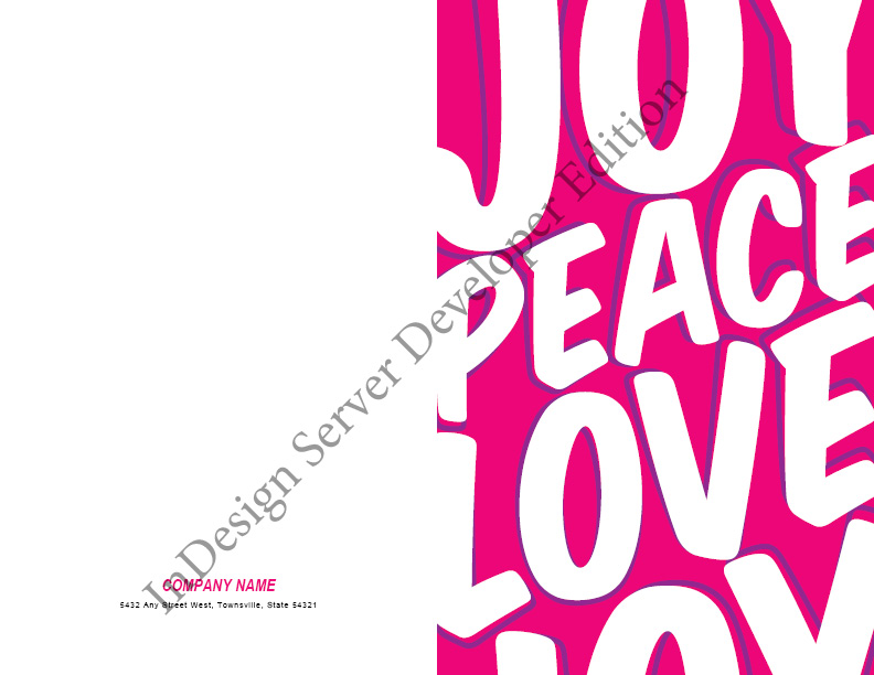 Peace Love Joy Greeting Card
