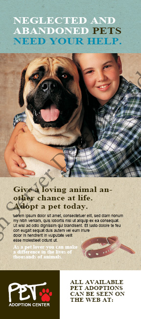Animal Shelter Pet Adoption Rack Card
