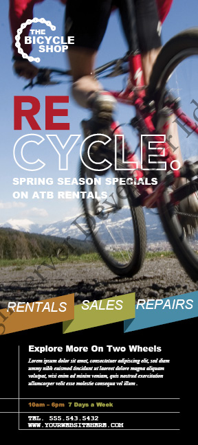 Bike Rentals and Mountain Biking Rack Card