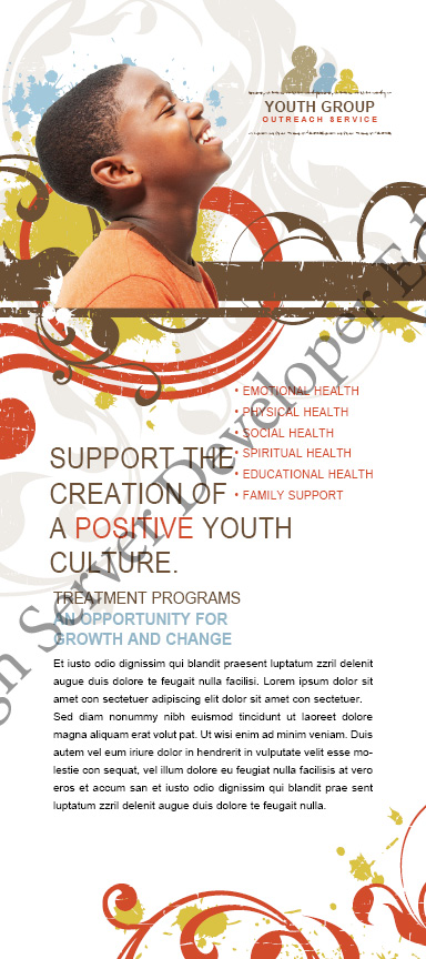 Church Ministry and Youth Group Rack Card