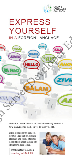 Language Learning Rack Card